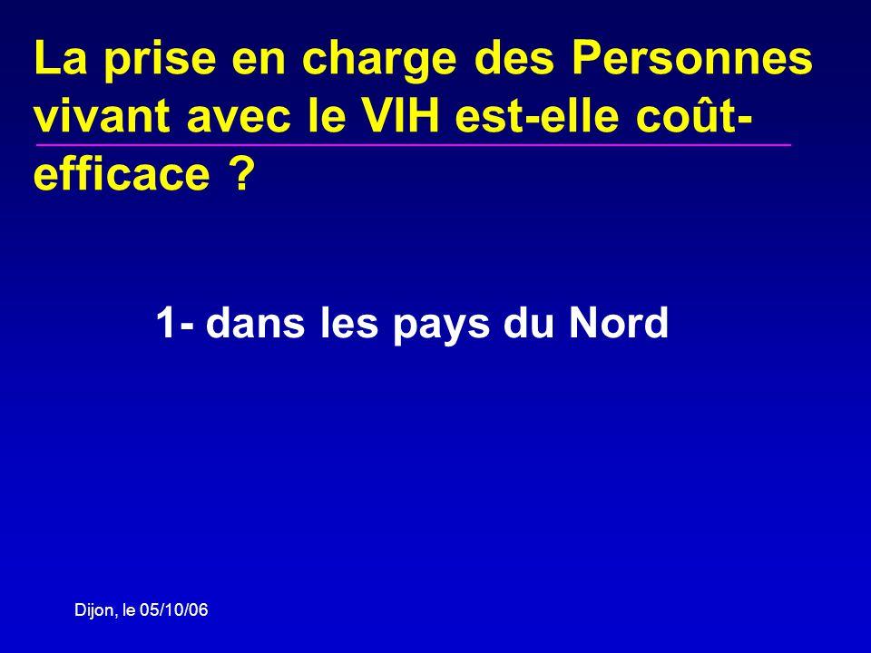 Dijon, le 05/10/06 La prise en charge des Personnes vivant avec le VIH est-elle coût- efficace .