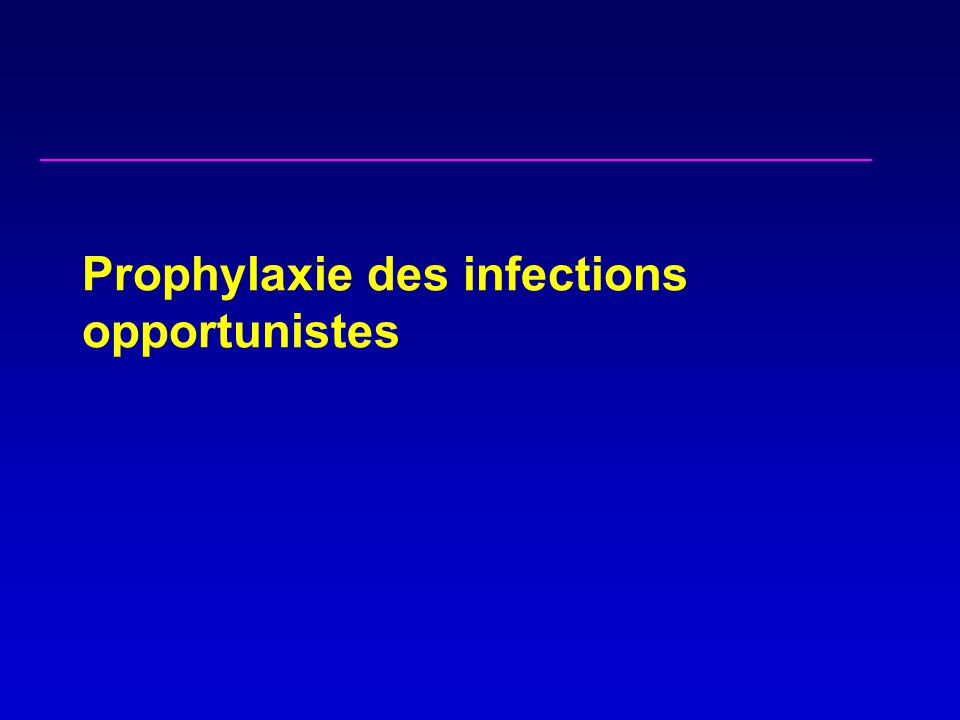 Prophylaxie des infections opportunistes