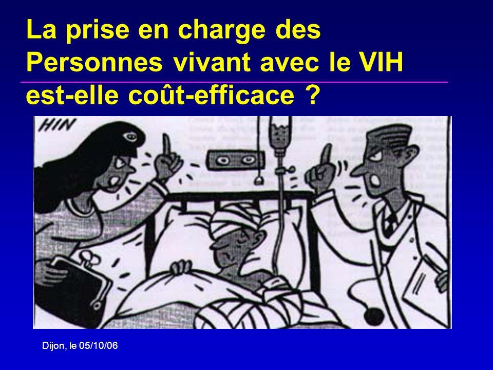 Dijon, le 05/10/06 La prise en charge des Personnes vivant avec le VIH est-elle coût-efficace