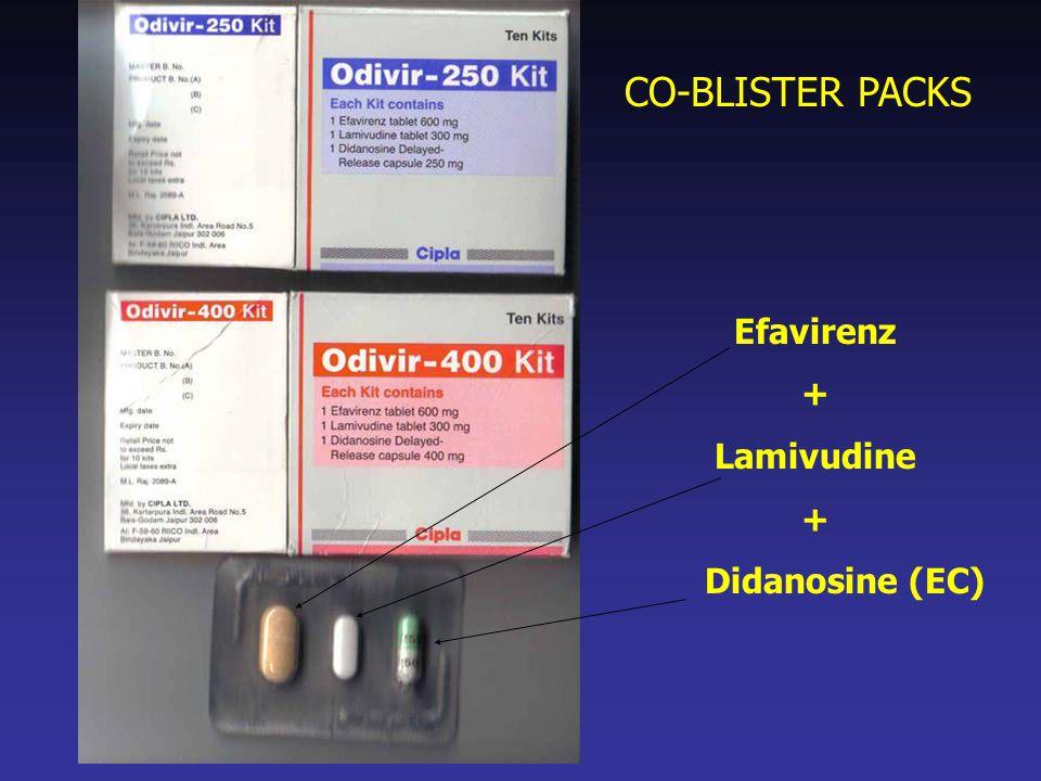 Efavirenz + Lamivudine + Didanosine (EC) CO-BLISTER PACKS
