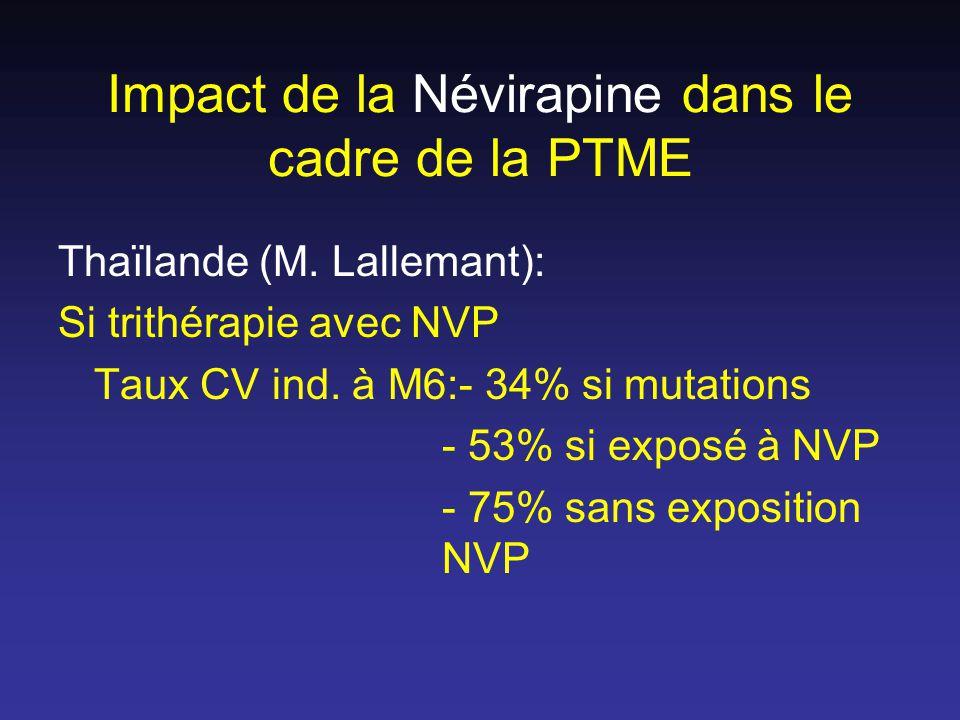 Impact de la Névirapine dans le cadre de la PTME Thaïlande (M.