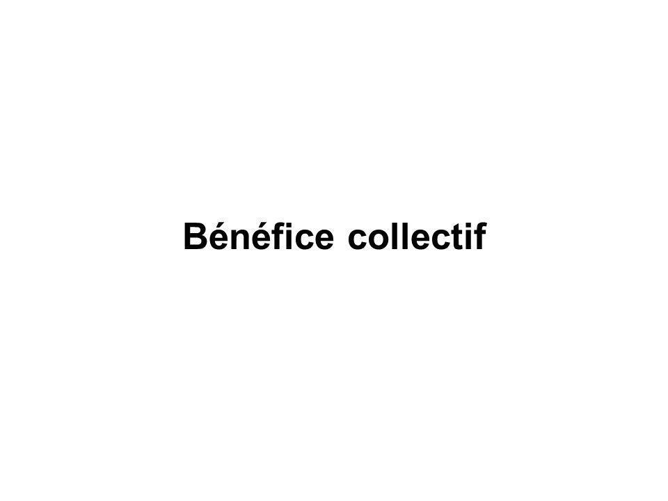 Bénéfice collectif