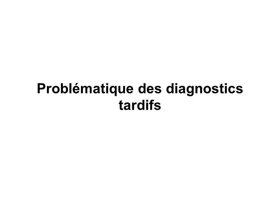 Problématique des diagnostics tardifs