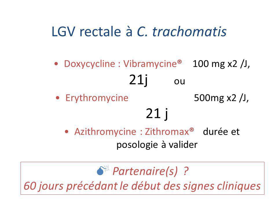 Traitement des infections à C.trachomatis Résistance acquise .
