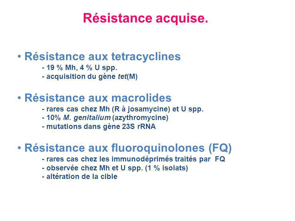 Traitement des urétrites masculines à mycoplasmes U.