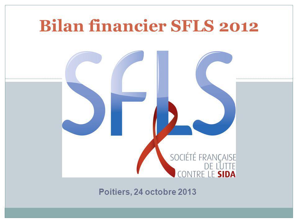 Bilan financier SFLS 2012 Poitiers, 24 octobre 2013