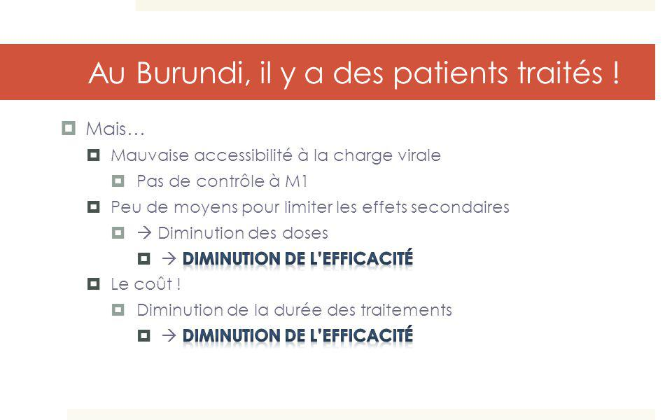 Au Burundi, il y a des patients traités !