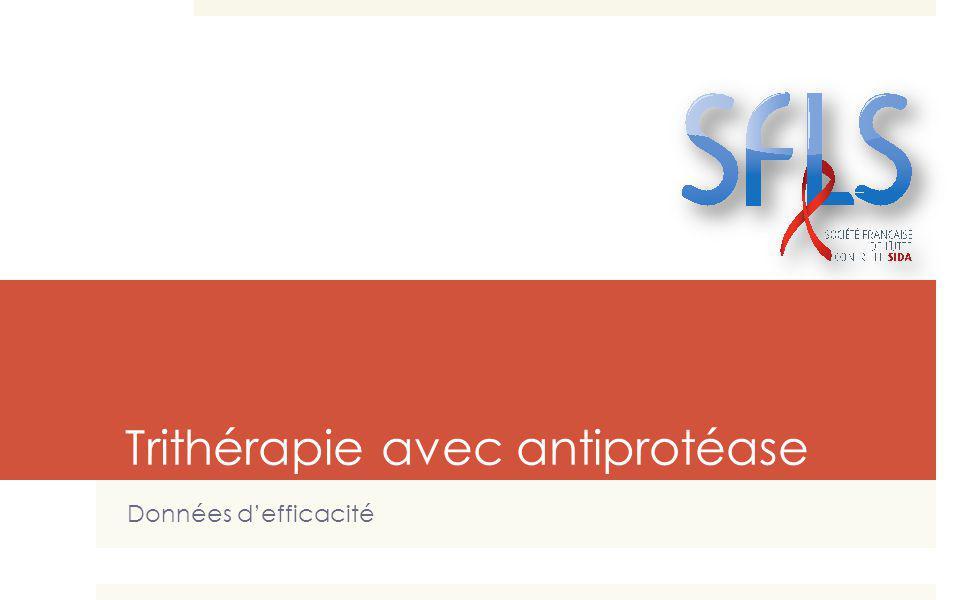 Trithérapie avec antiprotéase Données defficacité