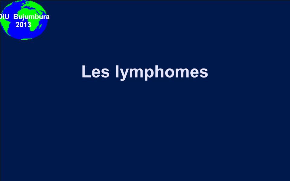 DIU Bujumbura 2013 Les lymphomes