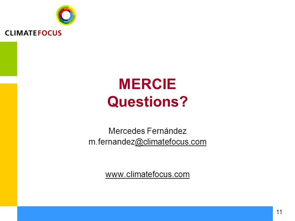 11 MERCIE Questions.