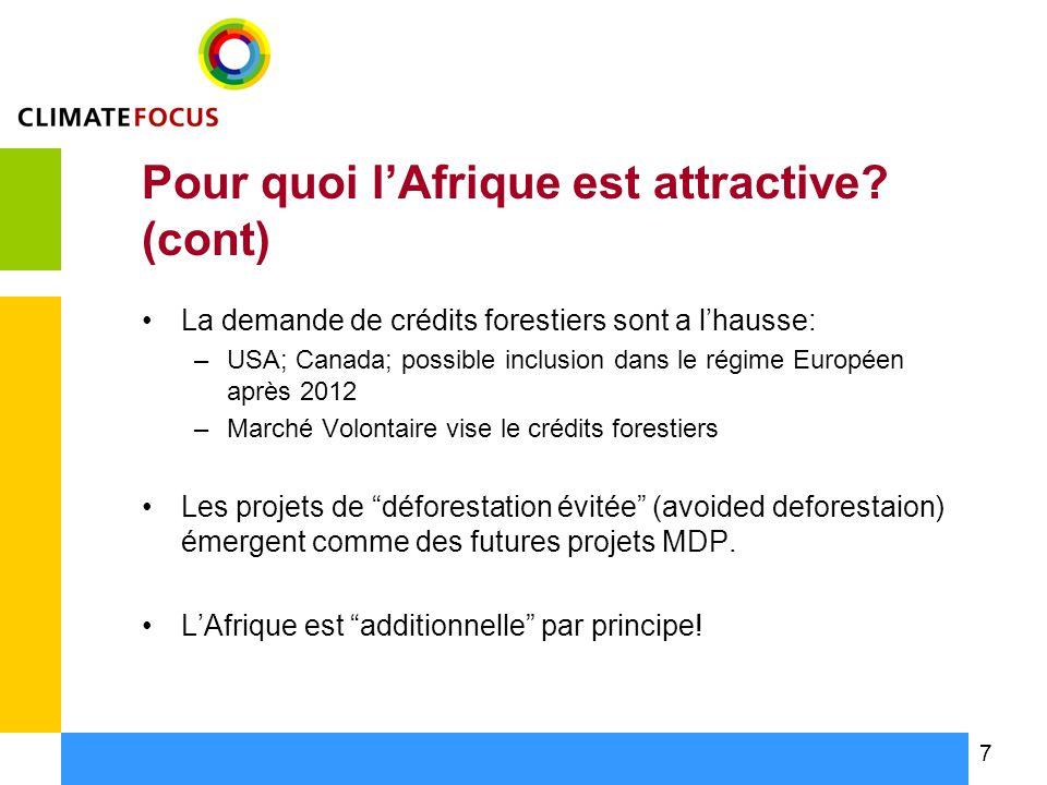 8 Projets de Déforestation Évitée: opportunité pour lAfrique.