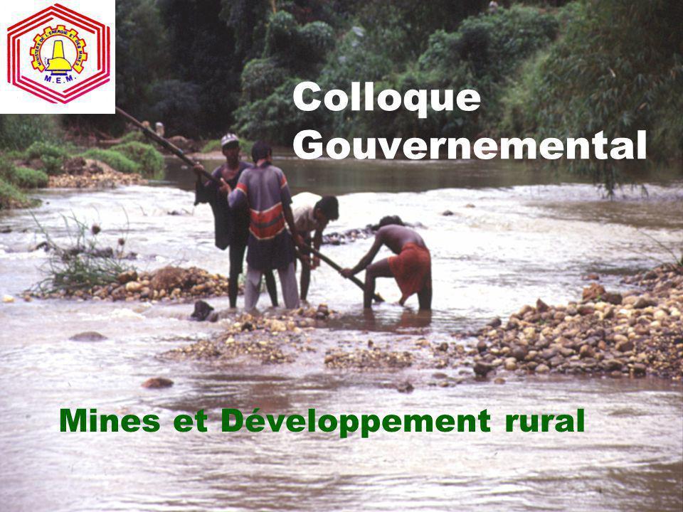 Colloque Gouvernemental Mines et Développement rural