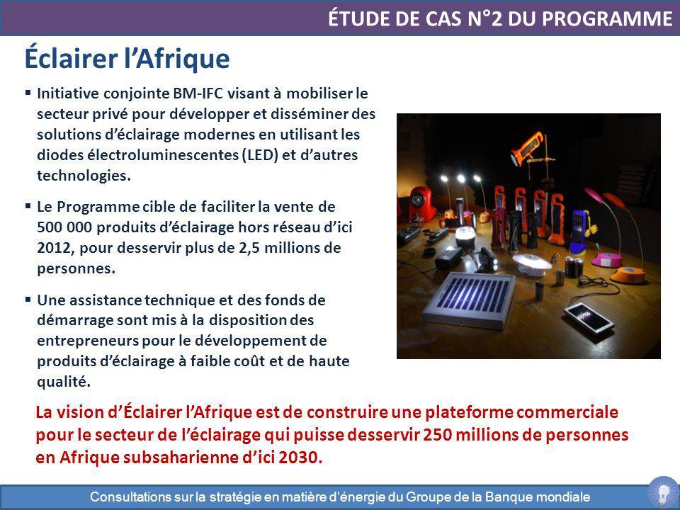 Initiative conjointe BM-IFC visant à mobiliser le secteur privé pour développer et disséminer des solutions déclairage modernes en utilisant les diode