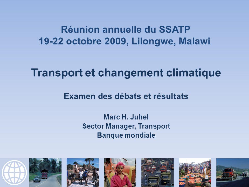 Transport et changement climatique Examen des débats et résultats Marc H.