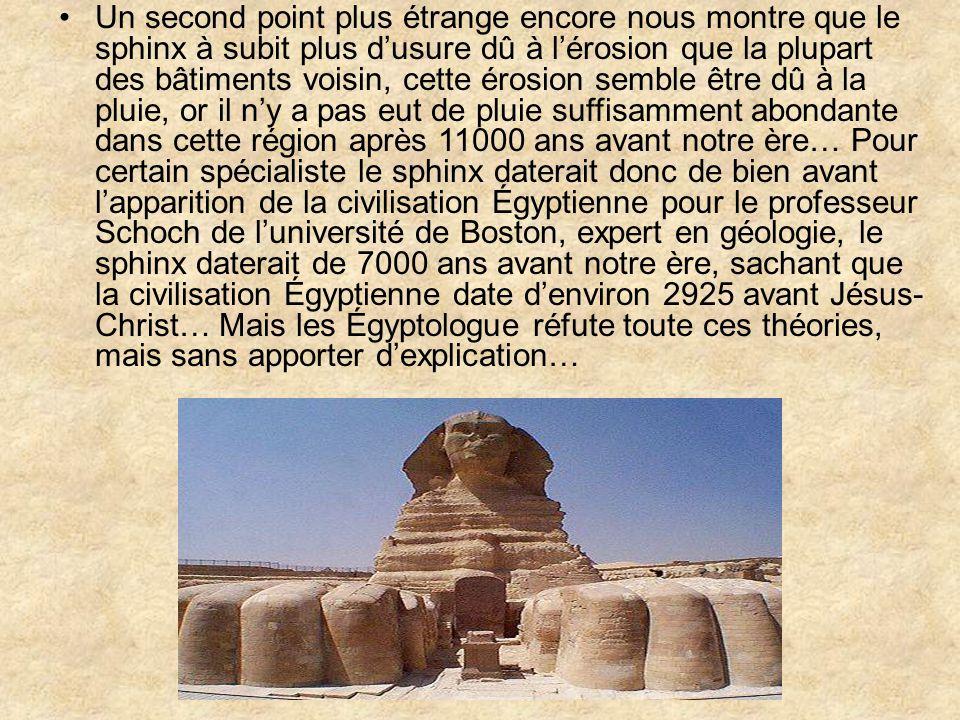 On ne peut hélas avoir de certitude, certain pense quil aurait été construit par les Atlante qui aurait appris ensuite les techniques de construction aux Égyptiens.