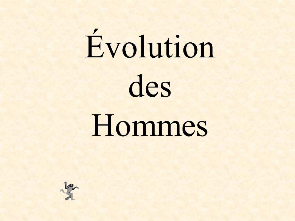 Évolution des Hommes
