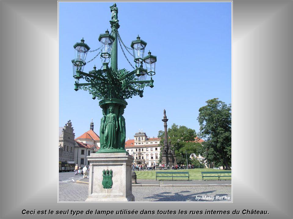 Ceci est le seul type de lampe utilisée dans toutes les rues internes du Château.