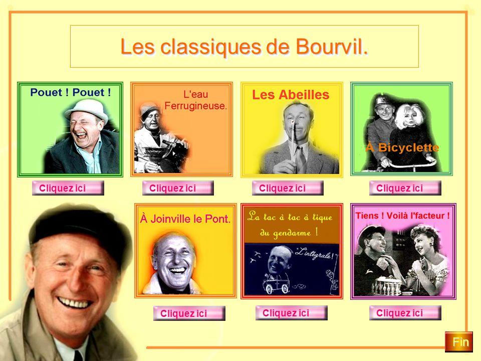 Les classiques de Bourvil. La Tactique du Gendarme ! Bourvil disait; «Tenir un rôle comique, c'est exactement comme faire la cour à une jolie fille. I