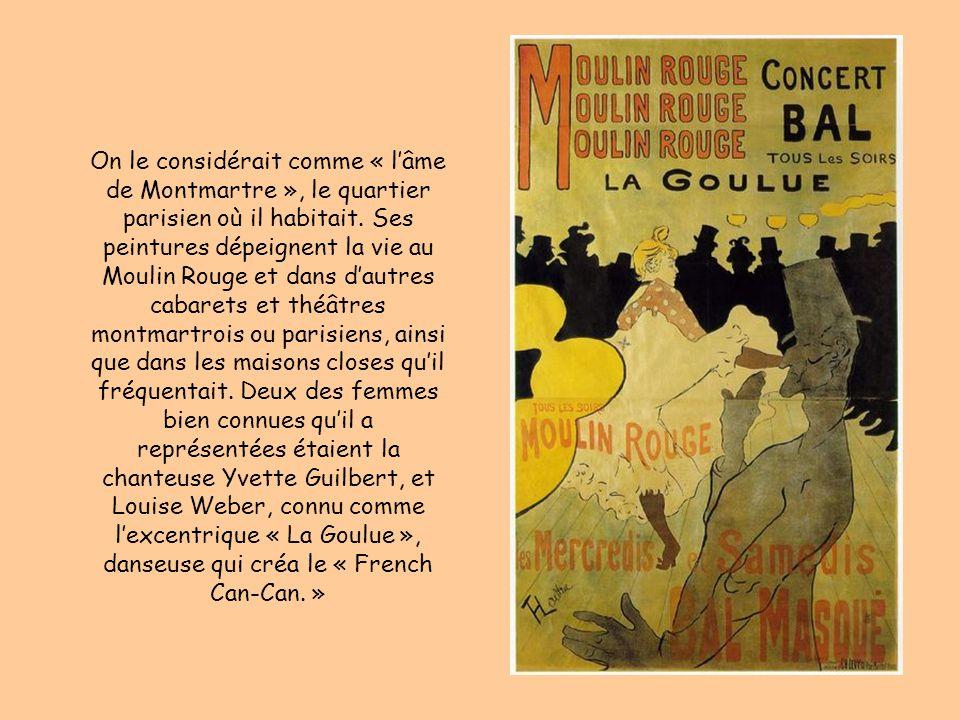 On le considérait comme « lâme de Montmartre », le quartier parisien où il habitait.