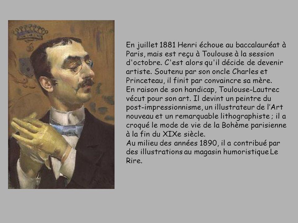 En juillet 1881 Henri échoue au baccalauréat à Paris, mais est reçu à Toulouse à la session d octobre.