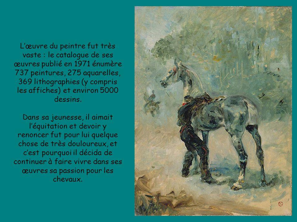 Lœuvre du peintre fut très vaste : le catalogue de ses œuvres publié en 1971 énumère 737 peintures, 275 aquarelles, 369 lithographies (y compris les affiches) et environ 5000 dessins.