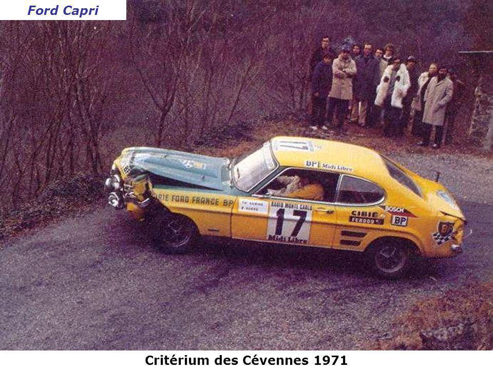 Rallye des Monts Dôme 1971 Renault Alpine A110