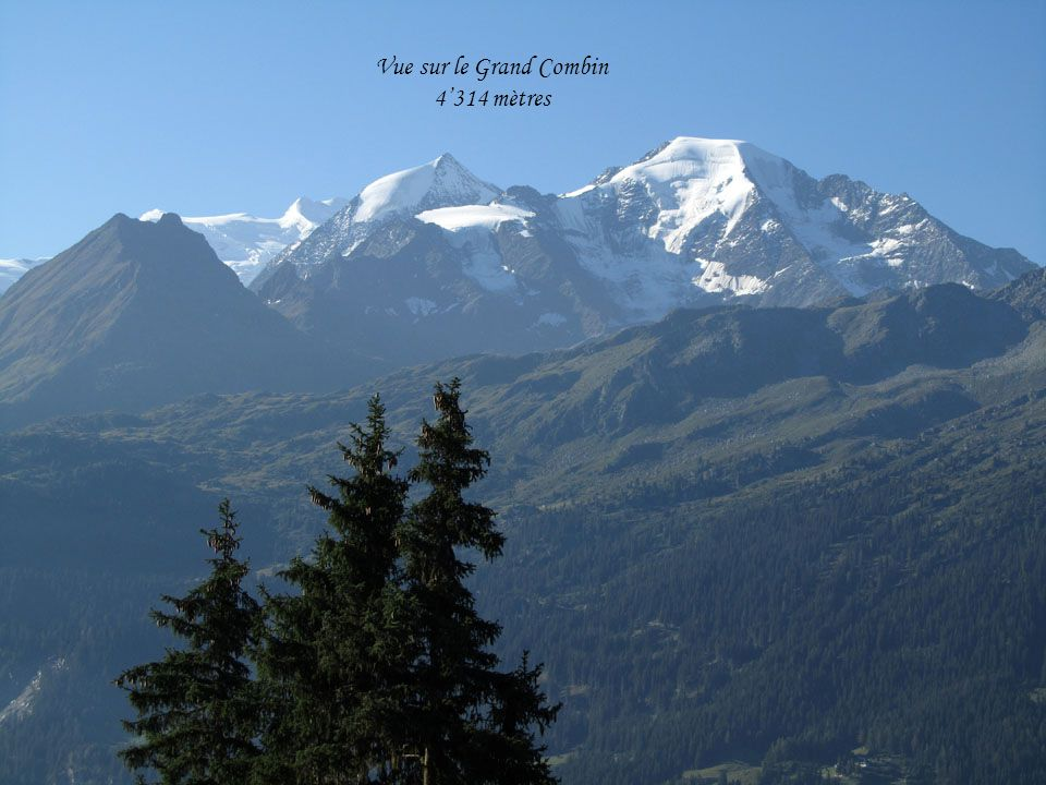 Les Combins Lac de Louvie Glacier de Panossière Barrage de Mauvoisin
