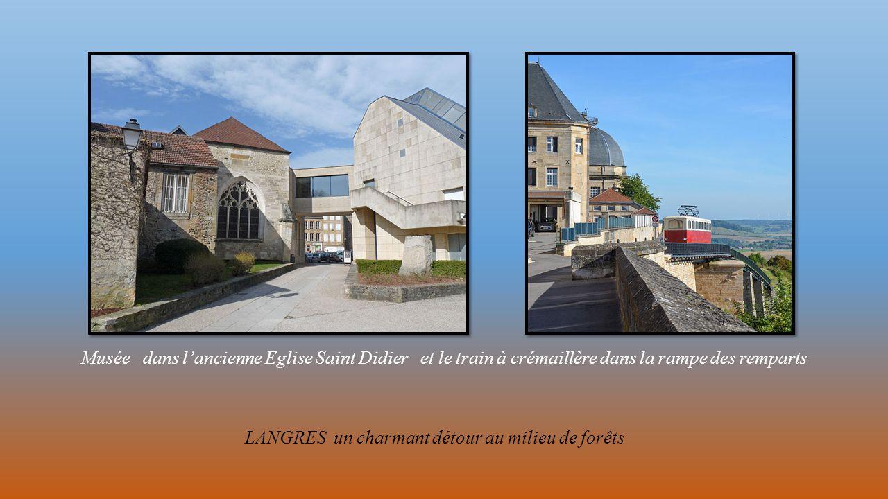avec un chemin de ronde comprenant 7 tours et 7 portes, vue des remparts et du lac de la Liez ainsi que de la Porte Neuve (des Terreaux)