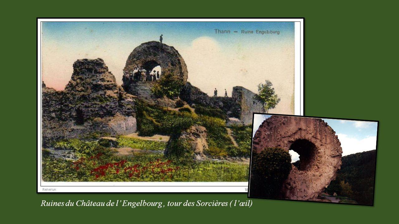 Ruines du Château de l Engelbourg, tour des Sorcières ( lœil)