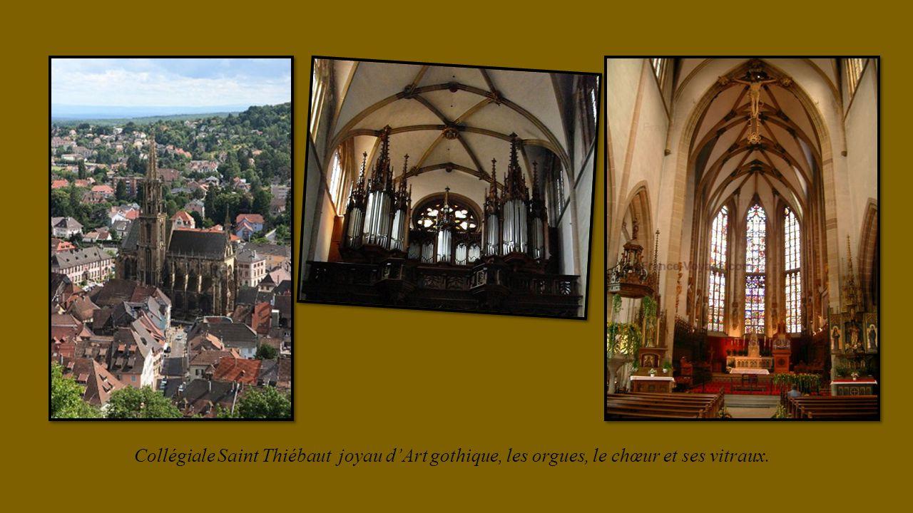 Collégiale Saint Thiébaut joyau dArt gothique, les orgues, le chœur et ses vitraux.
