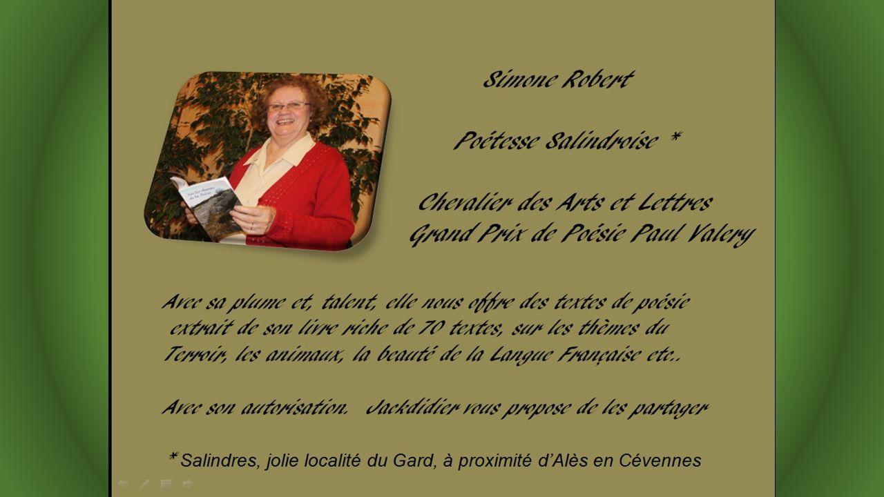 Extrait de « Poèmes au fil de leau « (1999) Texte de Simone Robert, mis en images et sonorisé par Jackdidier