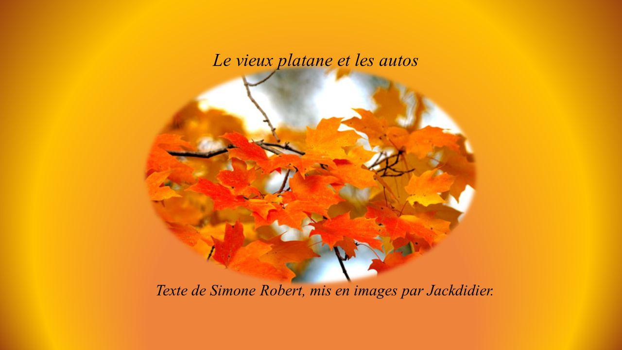 Le vieux platane et les autos Texte de Simone Robert, mis en images par Jackdidier.