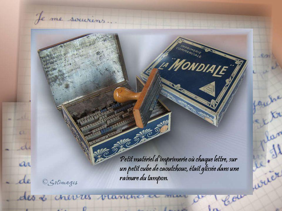 Encre à tampon pour timbre en caoutchouc et tampon dateur portant sur la période 1933 - 1944