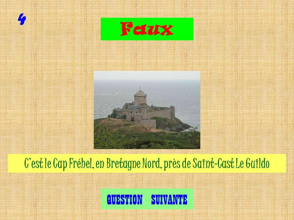 Cest le Cap Fréhel, en Bretagne Nord, près de Saint-Cast Le Guildo 4 Exact QUESTION SUIVANTE