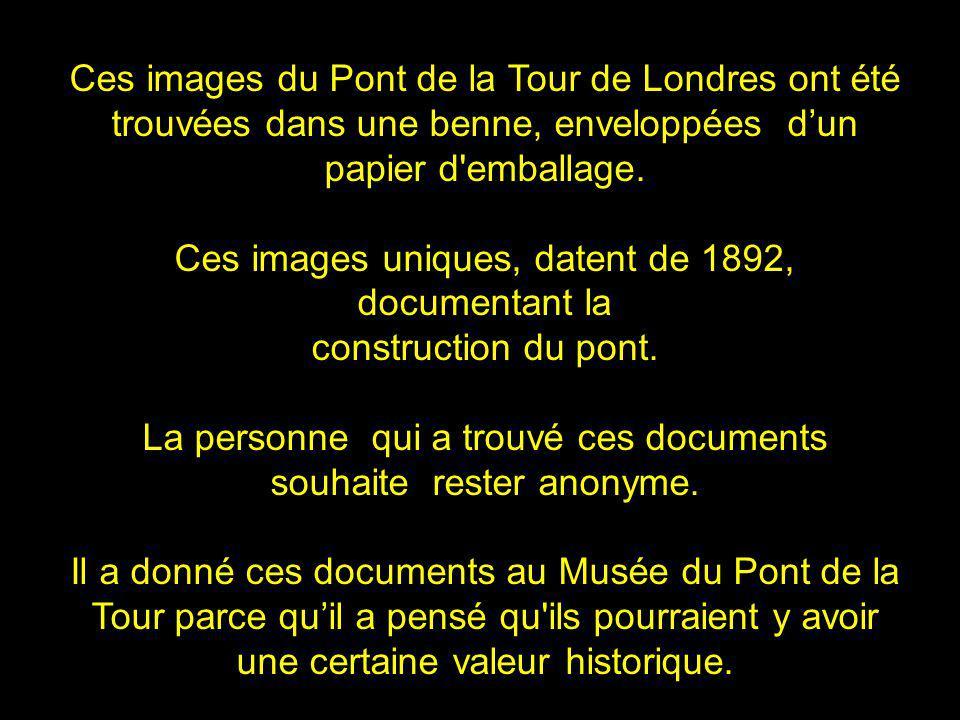 Ces images du Pont de la Tour de Londres ont été trouvées dans une benne, enveloppées dun papier d emballage.