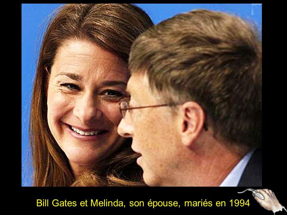 2 Bill Gates et Melinda, son épouse, mariés en 1994