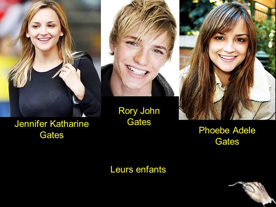 2 Jennifer Katharine Gates Rory John Gates Phoebe Adele Gates Leurs enfants