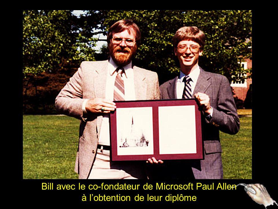 2 Bill avec le co-fondateur de Microsoft Paul Allen à lobtention de leur diplôme