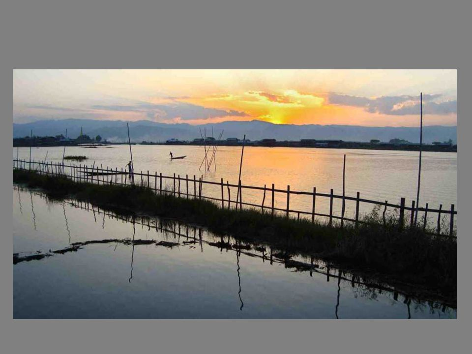 Le lac Inlé, au sud de létat Shan, fait une cinquantaine de km.