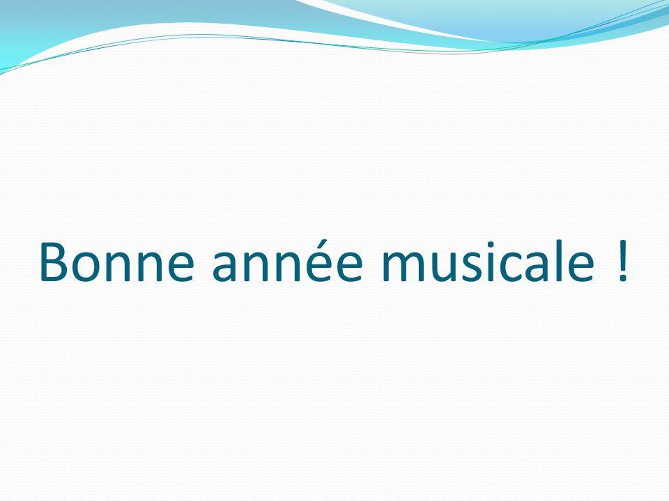 Bonne année musicale !
