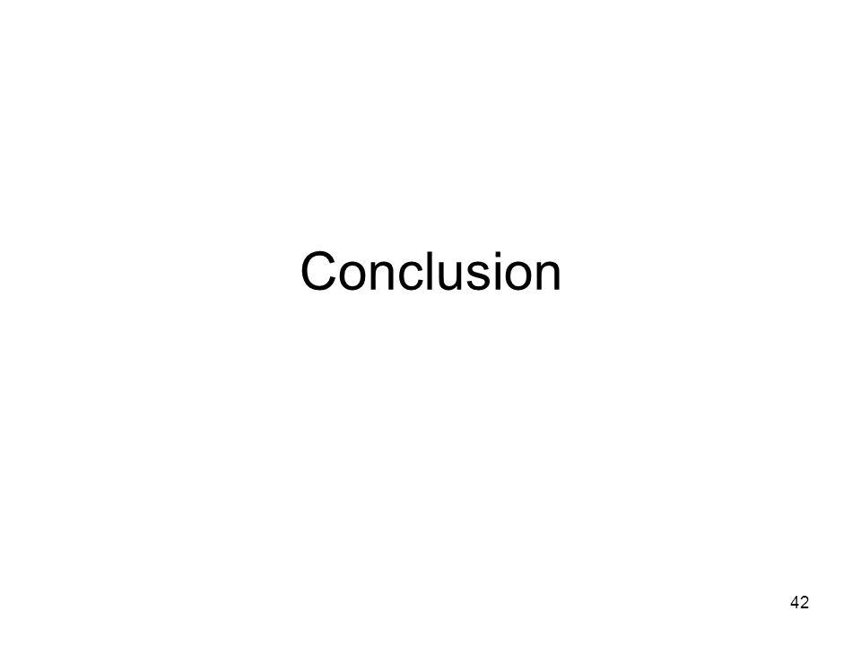 42 Conclusion