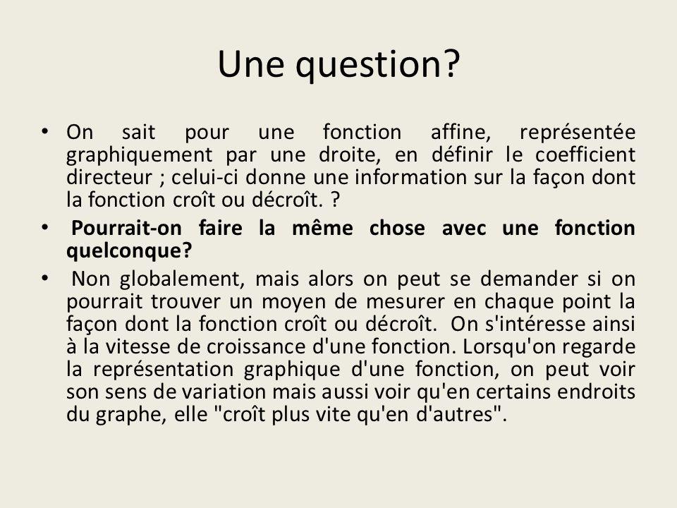 Une question.
