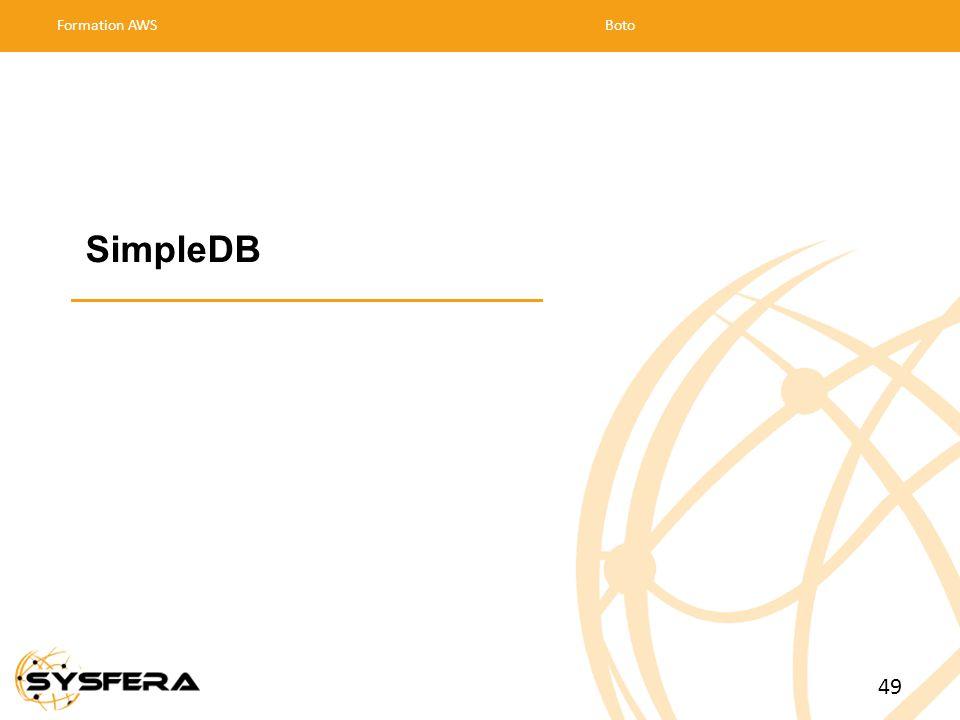 SimpleDB Formation AWSBoto 49