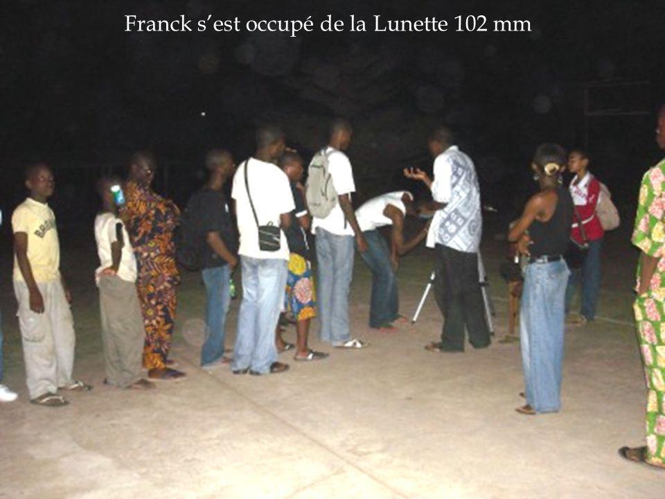 Franck sest occupé de la Lunette 102 mm