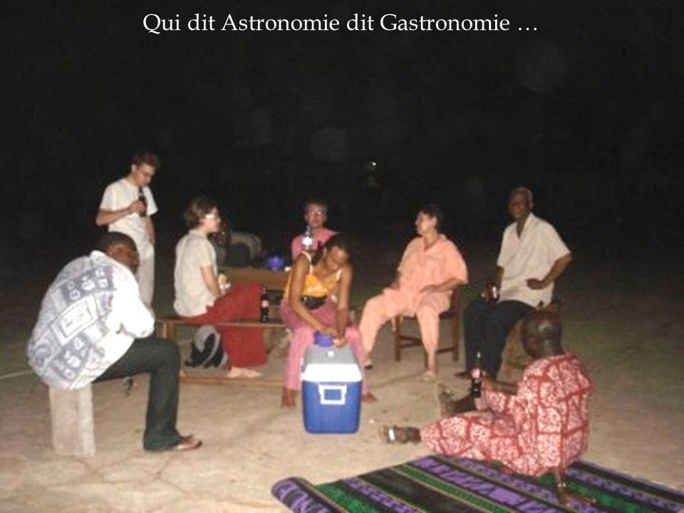 Qui dit Astronomie dit Gastronomie …