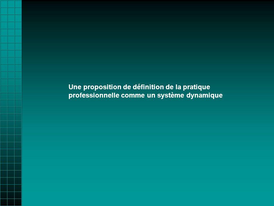 Une proposition de définition de la pratique professionnelle comme un système dynamique