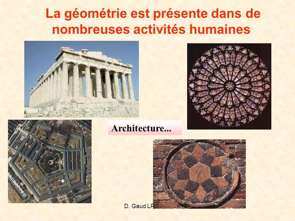 D. Gaud LPI 2008 La géométrie est présente dans de nombreuses activités humaines Architecture...
