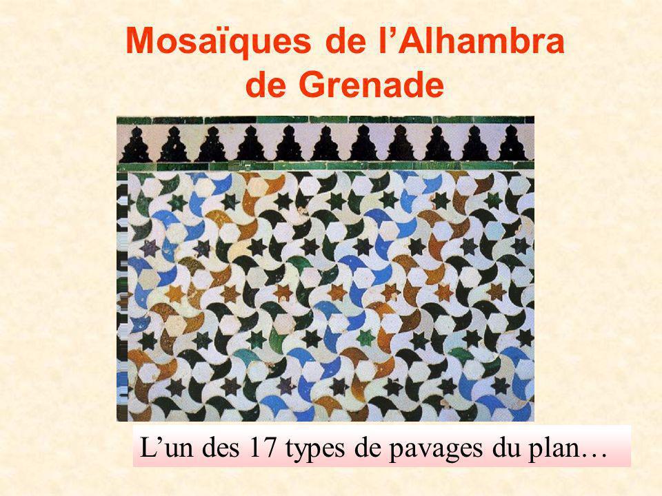 D. Gaud LPI 2008 Mosaïques de lAlhambra de Grenade Lun des 17 types de pavages du plan…