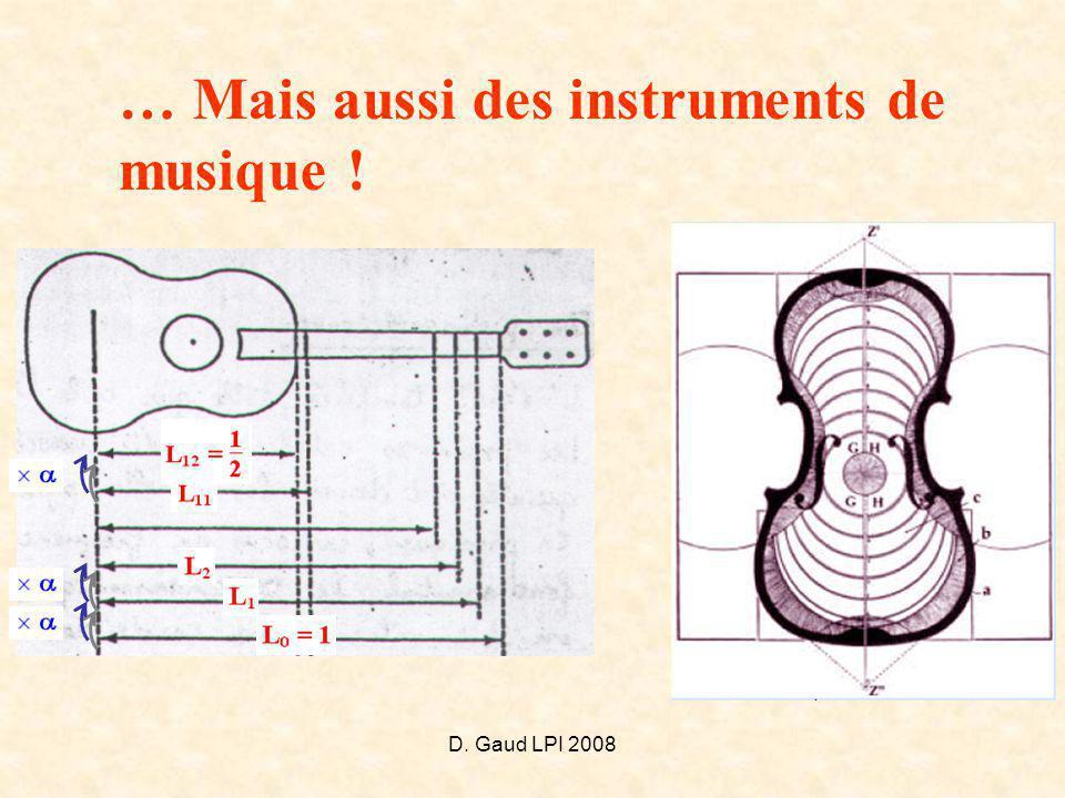 D. Gaud LPI 2008 … Mais aussi des instruments de musique !