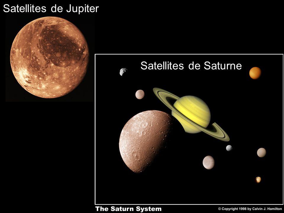 Satellites de Saturne Satellites de Jupiter